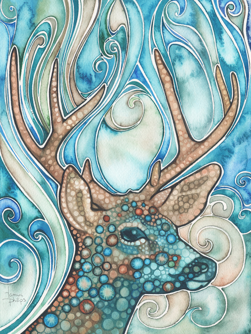 "Sea Deer 9"" x 12"" Watercolour"