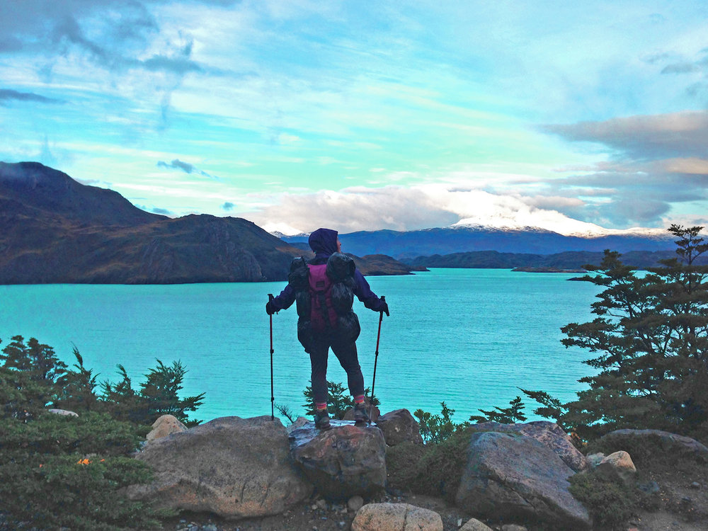 Tamara hiking in Patagonia