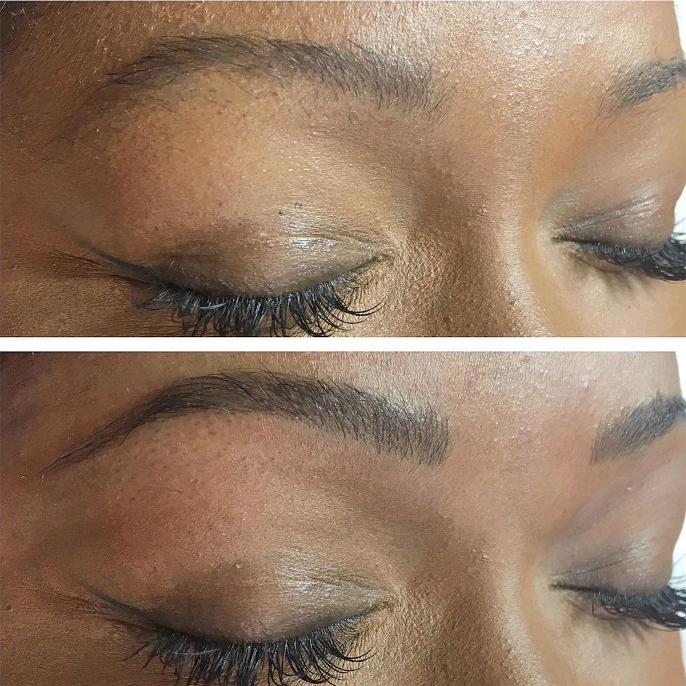 Microstroke brows by Sara Pedrosa. © Gold Standard Studio.