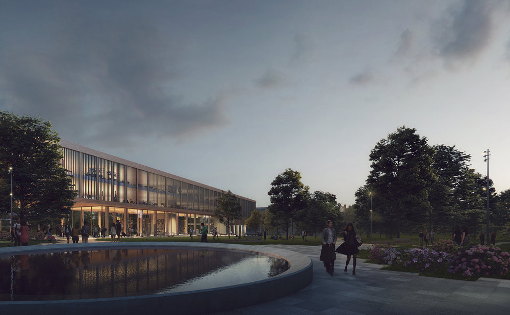 NTNU Campus, Trondheim — Public library in Elgeseter Park.