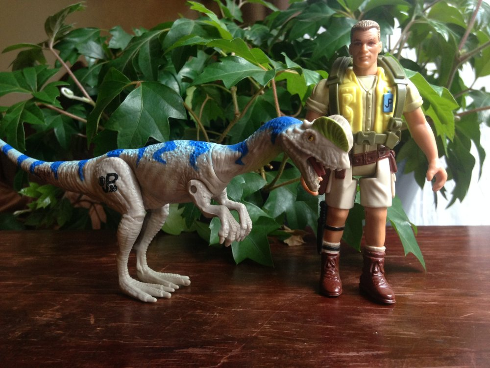 A Dilophosaurus and Muldoon - $2
