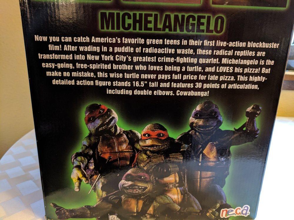 The back of the NECA box
