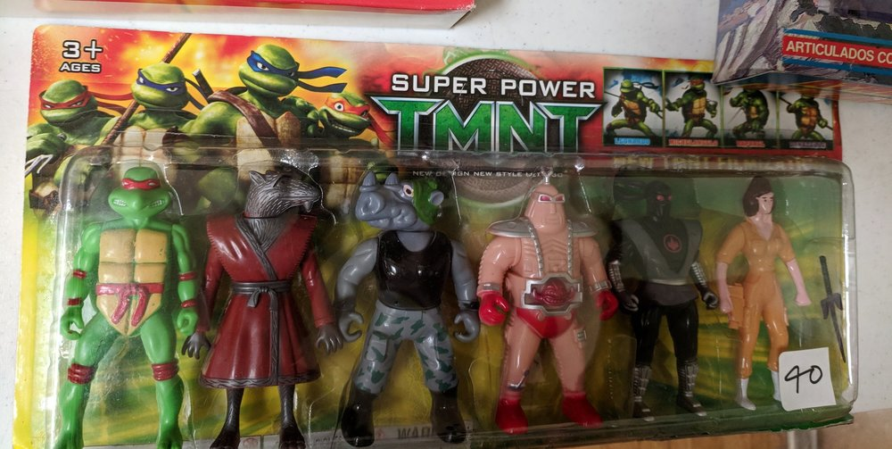 Though they look like trash, at least they're all actually from TMNT
