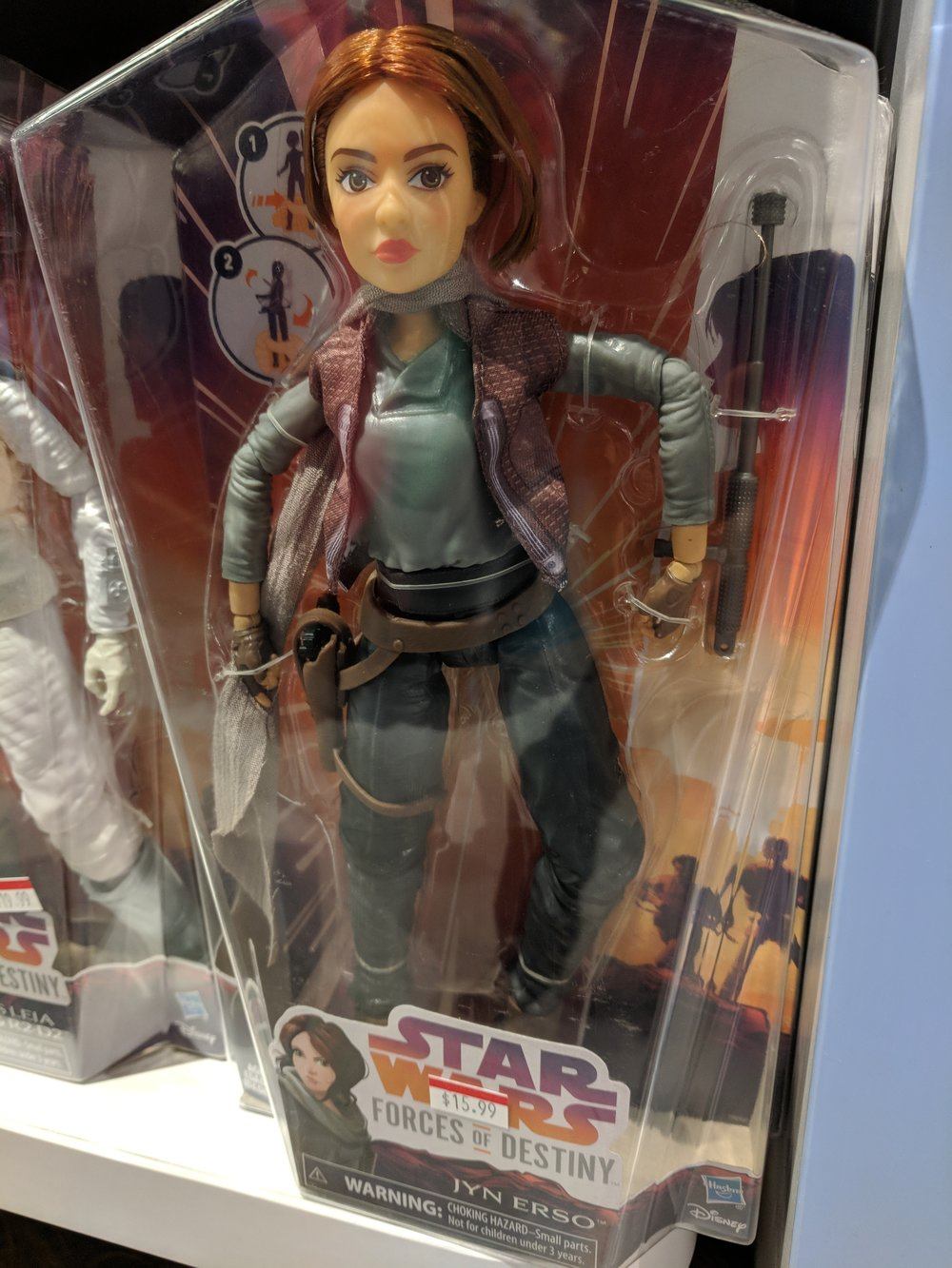 Jyn Erso with...hope? Squeeze her legs together and she looks into the distance awaiting the Death Star