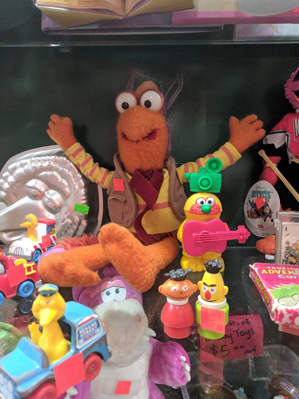 I find Gobo Fraggle with its wig ripped off is hilariously horrifying