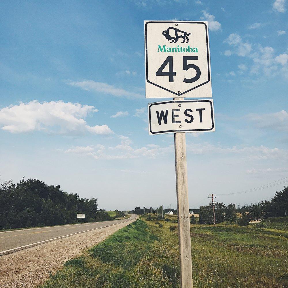 Manitoba highways - août 2017