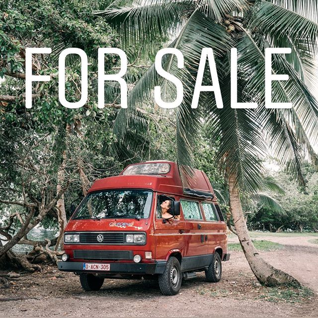 We are selling our van! After almost a year of traveling it's time for us to go back in Belgium and be near our friends and family. If you are interested in a 1990 Westfalia Diesel Hightop Vanagon feel free to contact us. Wherever you are in Mexico or in the US we can come bring it to you! 🙃🚐