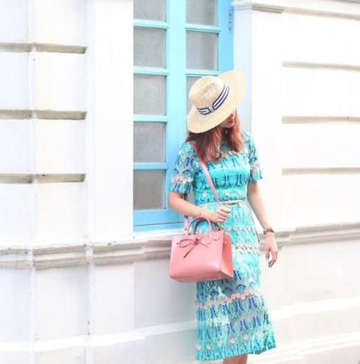 @mellowmayo   Mayo in L CARÈNE Dress & Hat Attack Hat (22/6/17)