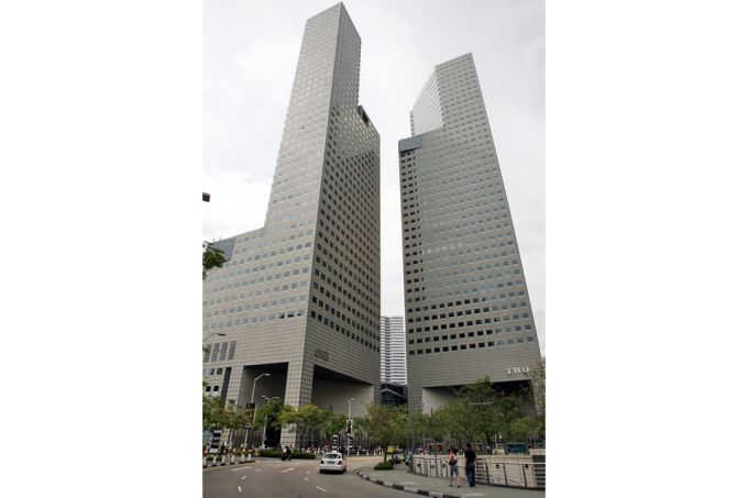 BASF selling five office floors at Suntec Tower One for S