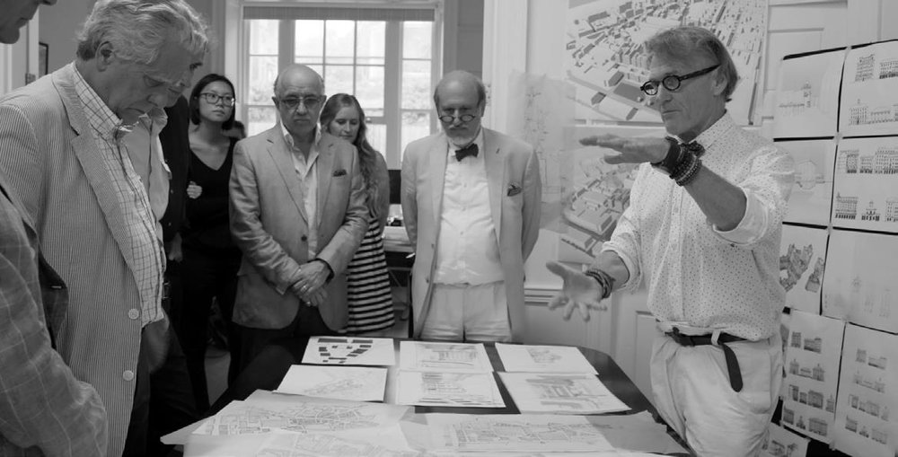 Robert Adam, Alireza Sagharchi, John Simpson & Lucien Steil at student crits