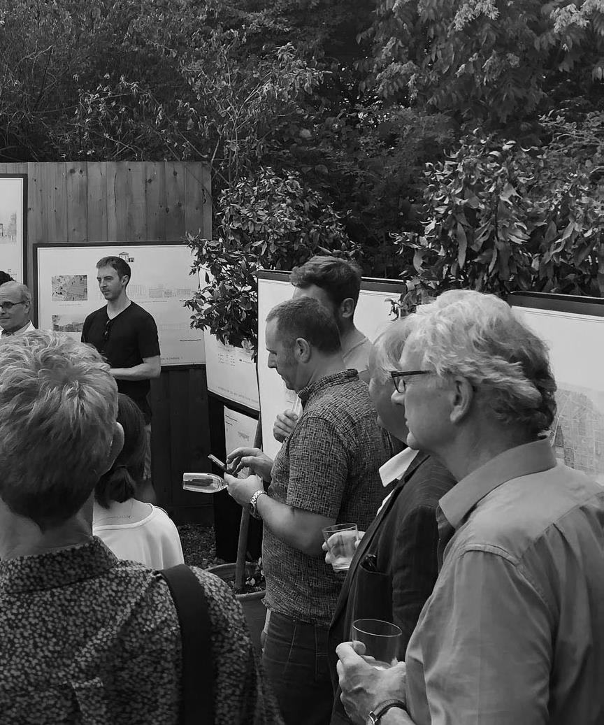 The local residents took a keen interest in the project at Euston, the work of the school  and attended the final exhibition.