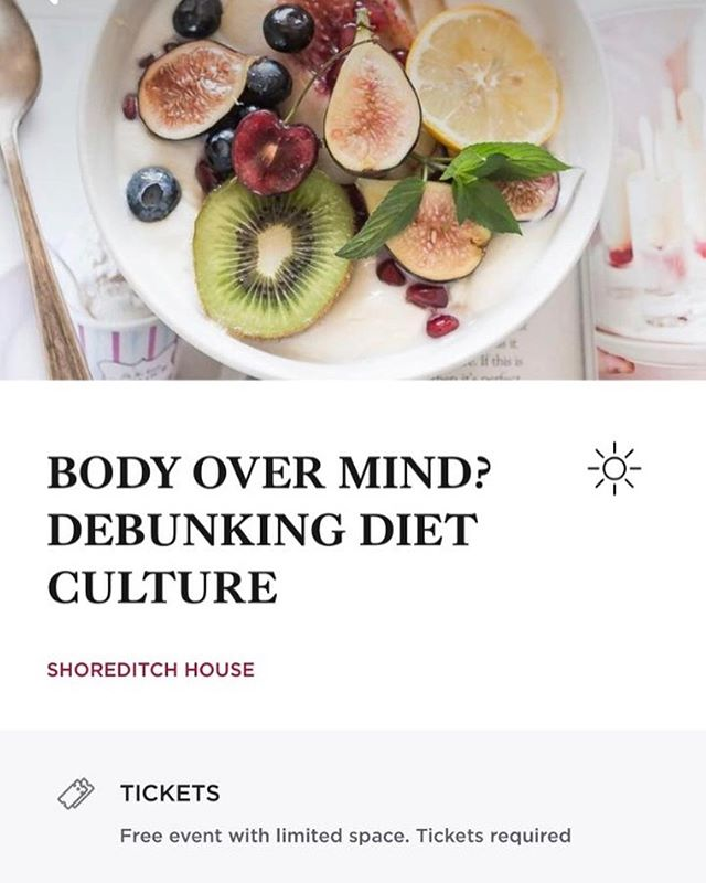 Hosting a panel for a belated #EatingDisorderAwarenessWeek at Shoreditch a House on the 11th March at 7pm with @nadia.craddock @jess_rann and Anthony Warner - author of The Angry Chef debunking diet culture and dispelling wellness myths 🥩🚫🥑🍫🥕🍗 If you're interested in coming DM me as I have some guestlist spots!