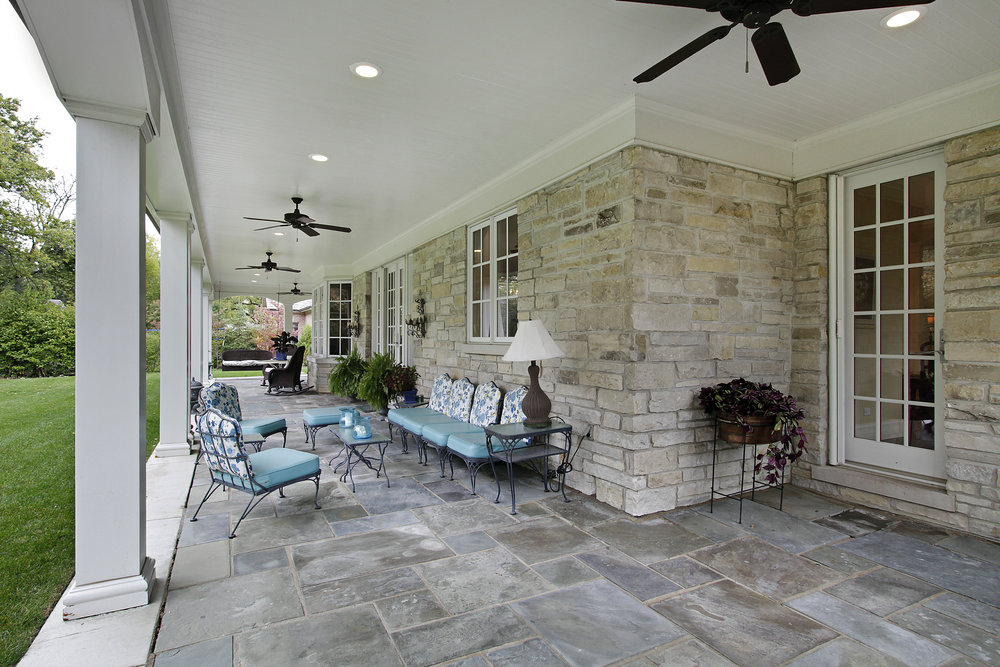 Natural Stone Porch