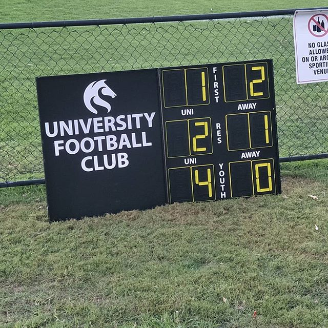 Disappointing result for first grade, but another good day for reserves and 3rd grade both with five wins from five games this year. #unifc