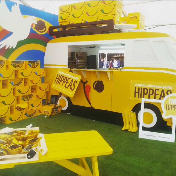The cheerful  Hippeas  stand at Taste of London
