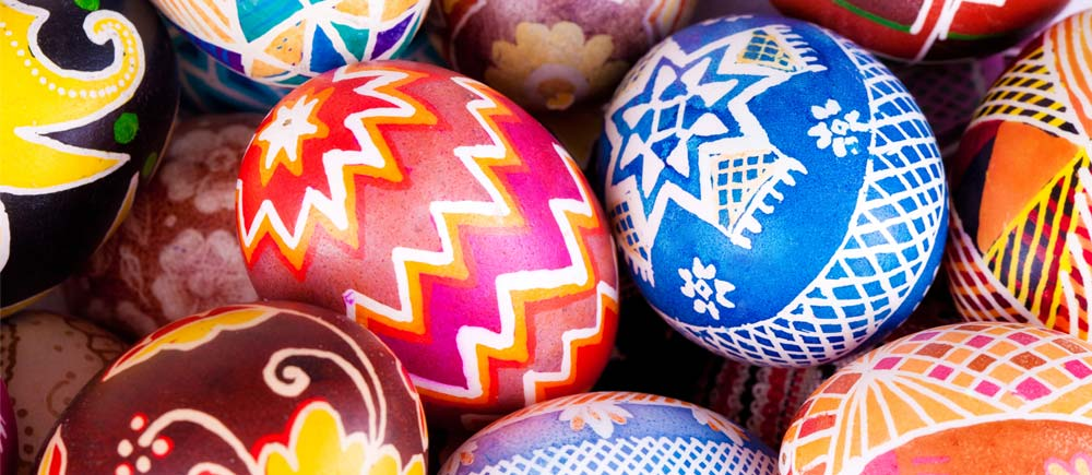 Traditional Pysanka; handpainted Ukrainian Easter Eggs
