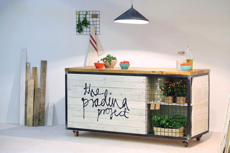Pop up serving space for  The Piadina Project , a London streetfood entrepreneur.