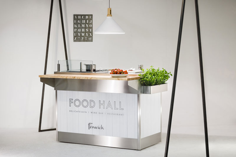 Our popular Cookstation design, shown here for  Fenwick  Newcastle's luxury Food Hall experience.