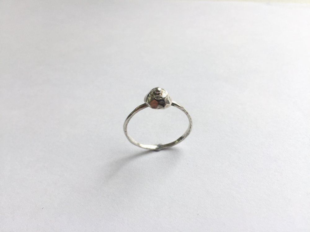 BOOB RING - STERLING SILVER