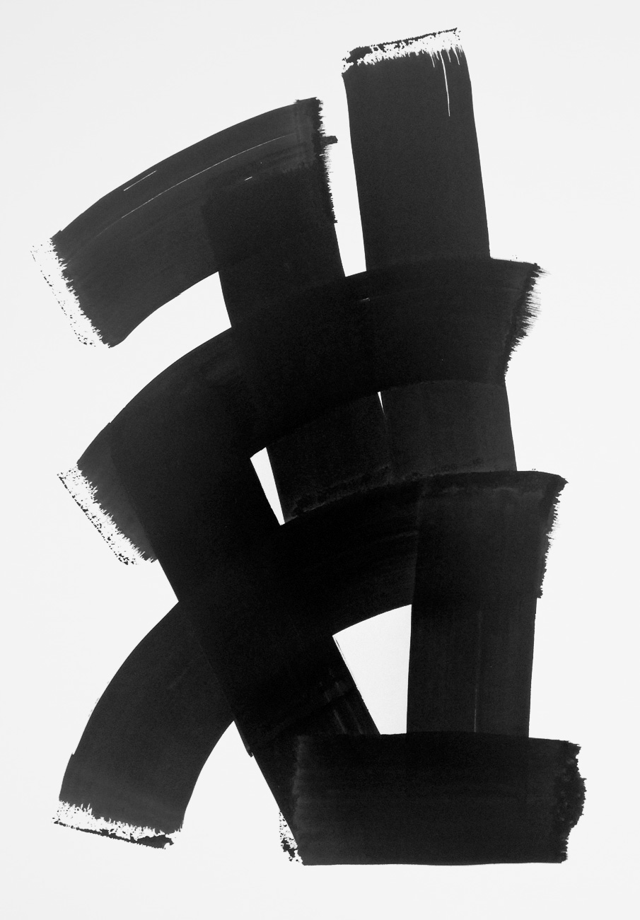 Totem  , 2014. Tinta china sobre papel, 46x32.5 cm.