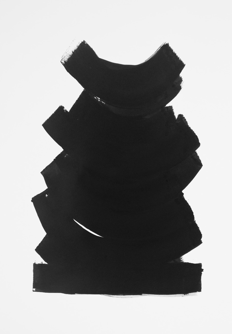 Totem  , 2014. Tinta china sobre papel, 32.5x46 cm.