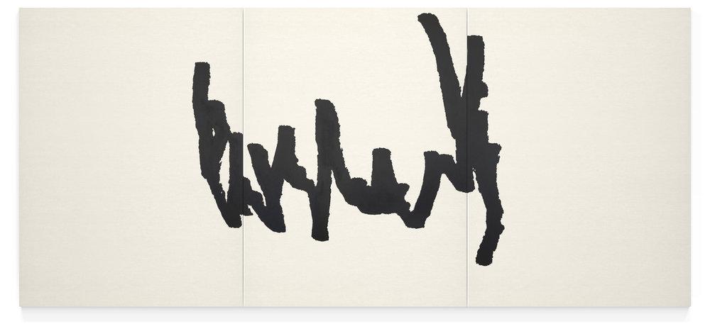 Line Across Three Canvases, Diego Berjon