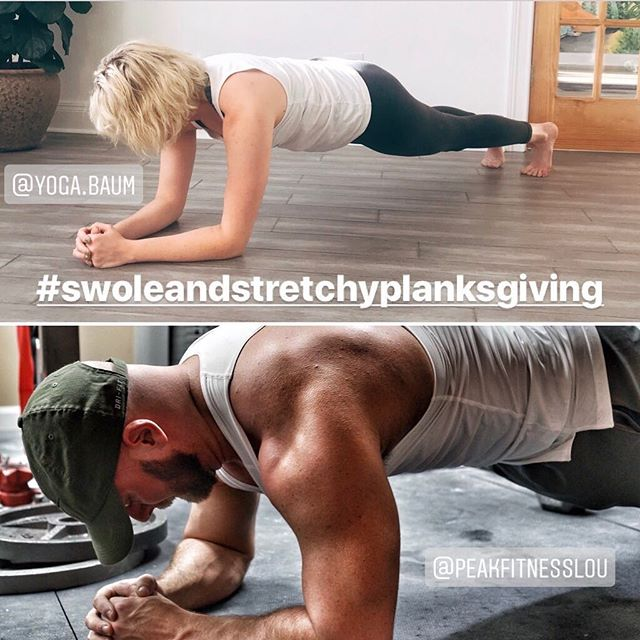 Welcome to the ultimate planksgiving challenge . 🍁 #SWOLEANDSTRETCHYPLANKSGIVING 🍂 . 💪November 1st - November 21st 💪We want to help you build a stronger core by increasing your plank holds. This challenge is all about core strength and we don't mess around with nonsensical core exercises. We go straight for the holy grail of core strength: a simple forearm plank hold. We will explore different plank variations, exercises, and movements that directly help strengthen your core, and you will assess how long you can hold a forearm plank every week (Wednesdays are assessment days) 💪 . CHALLENGE RULES AND DETAILS: . 1. Follow hosts and sponsors: @yoga.baum , @peakfitnesslou , @meridian_louisville , @meridian.integrative . 2. Post a photo or video of the daily exercise and tag all hosts and sponsors. You can always catch up if you miss a day, but the idea is to practice daily. 3. Use the hashtag #swoleandstretchyplanksgiving in your challenge posts. 4. Come into either Yoga Baum or Peak Fitness at some point before the challenge begins to assess your current plank hold. We will make sure your form is good and will accurately time you so you know what your starting point is. 5. The challenge winners will not just be chosen based on how long they can hold a plank. We are looking for improvement, engagement, and community support ❤️ 6. We have some awesome prizes that will be distributed between the winners: a 30 minute private session and group classes at Yoga Baum, an hour long private session at Peak Fitness, acupuncture and cupping from Meridian Acupuncture & Herbal Medicine, a coaching session and half hour breath work session at Meridian Integrative Wellness, and apparel from our sponsors! 7. You need to be in the Louisville area to be eligible to win prizes. You are still welcome to participate and get stronger if you're not local. 8. Only public accounts will be eligible for prizes. If you have a private account, you are still welcome to participate, but we will not be able to see your posts. 9. Repost this post so we know you are in and tag some friends who you also want to get stronger 💪 10. Have fun and try not to take yourself too seriously!