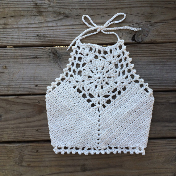 Halter Lace Crochet Crop Top Northern Loop