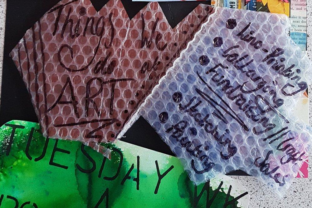 KS3 Art Club - A Week / Lower school lunch / 211 / Y Hughes / Art
