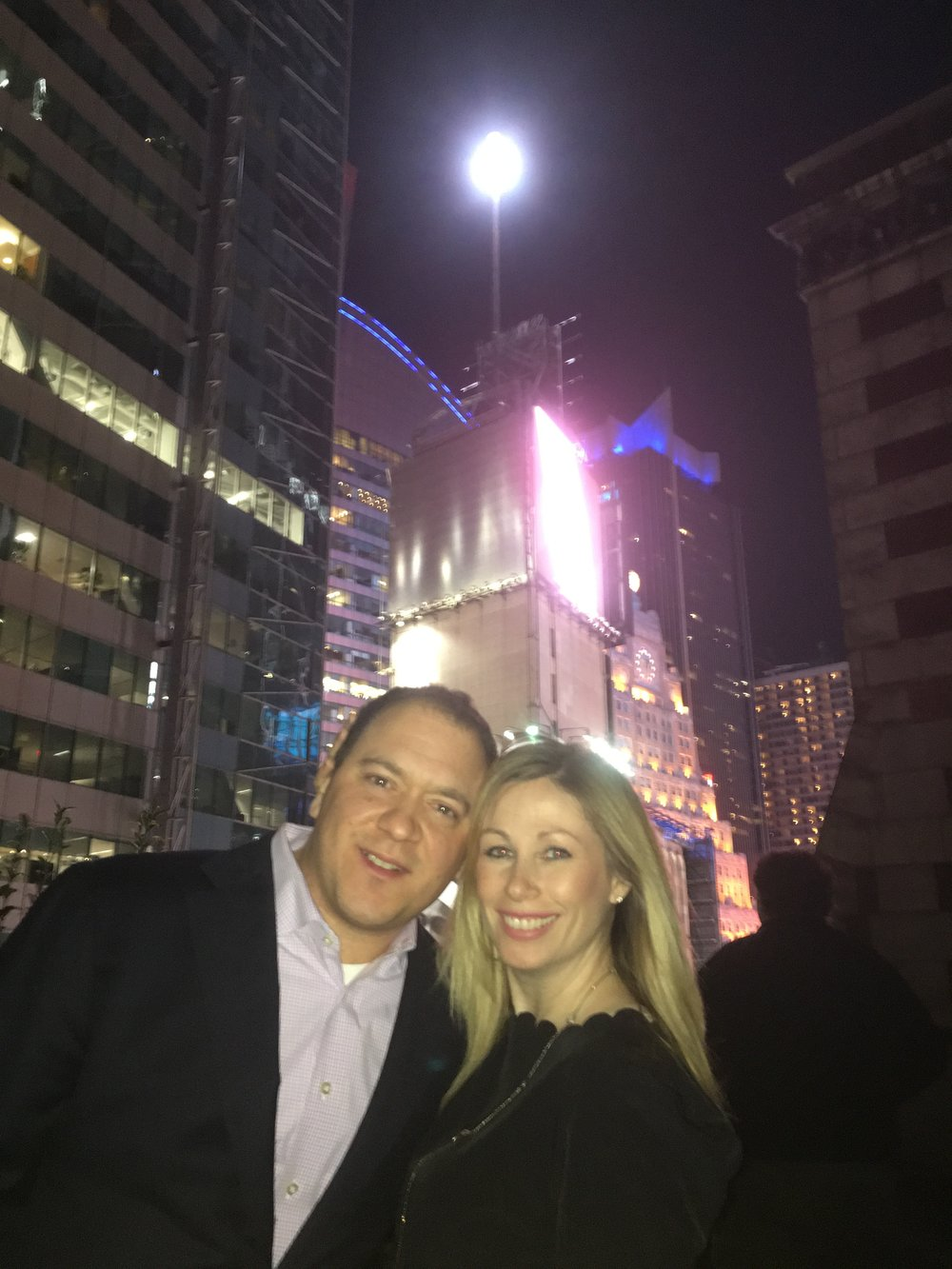Times Square Ball in the background!
