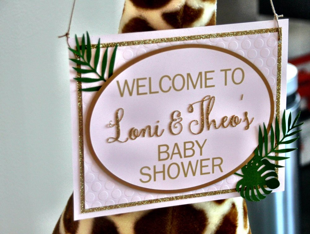 Custom layered welcome sign