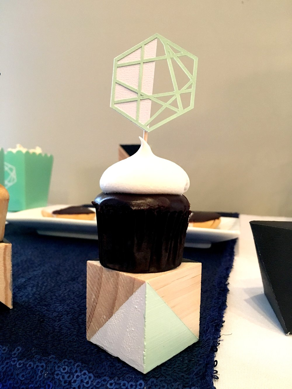 Geometric Cupcake toppers