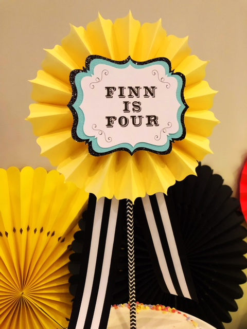 Personalized Rosette Cake Topper