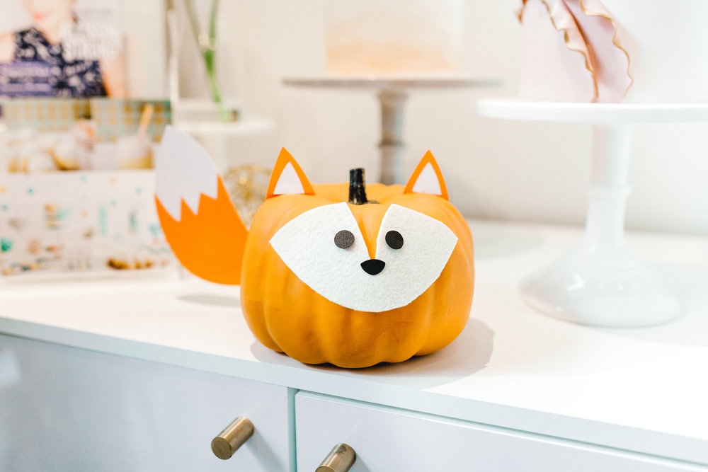 Fox woodland pumpkin craft