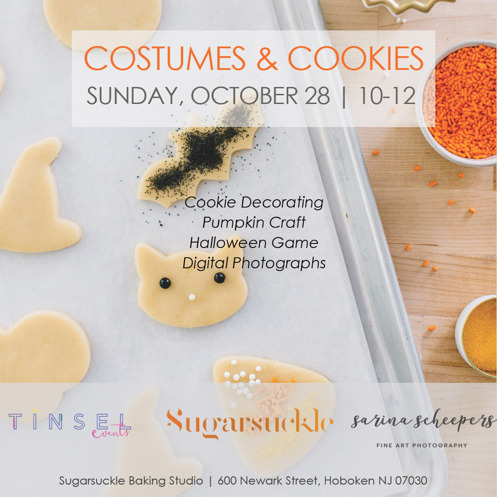 Costumes and Cookies announcement