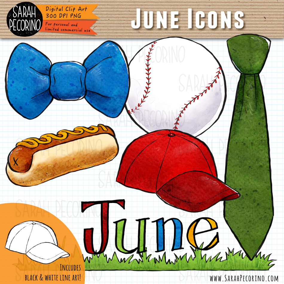 June Icons Clip Art {Fist Edition}