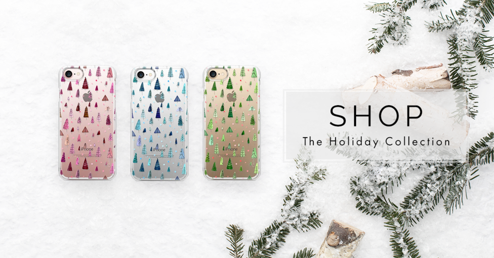 Christmas Forest / Transparent phone cases available HERE / available in opaque white background too!