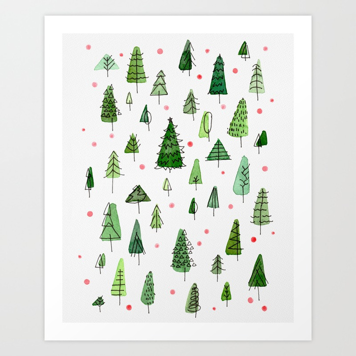 Christmas Forest art print available HERE