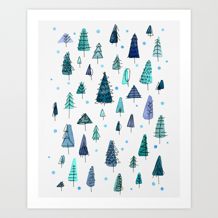 Blue Christmas art print available HERE