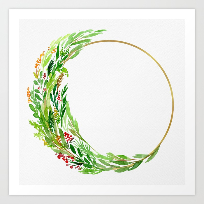 The Holiday Wreath art print available HERE