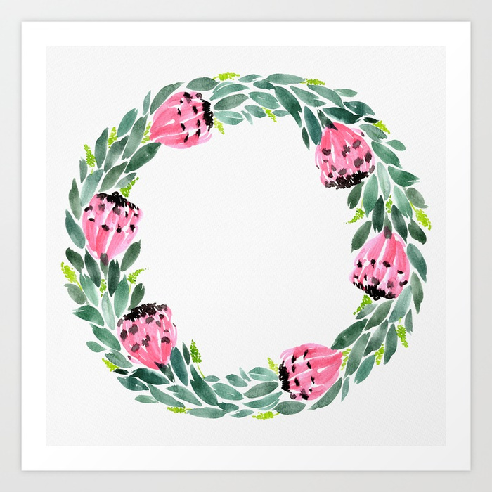 The Protea Wreath art print available HERE