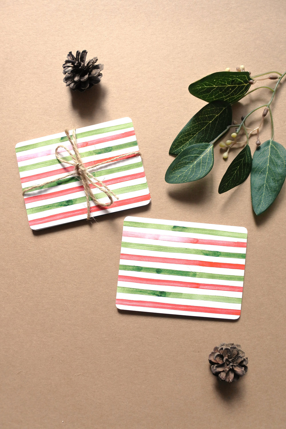 Holiday Stripes Mini Note Cards available HERE