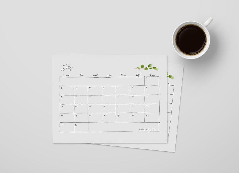Deborah Tseng July Calendar 2018