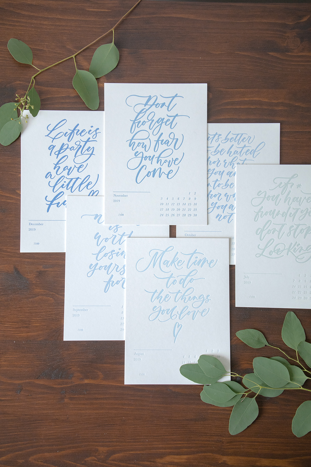 July to December speaks to you in cool color tones, reminding you to slow down and appreciate yourself.