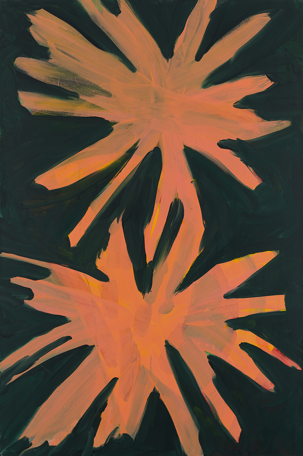 flower 10, Kremlin towers, orange, rosa, 2009