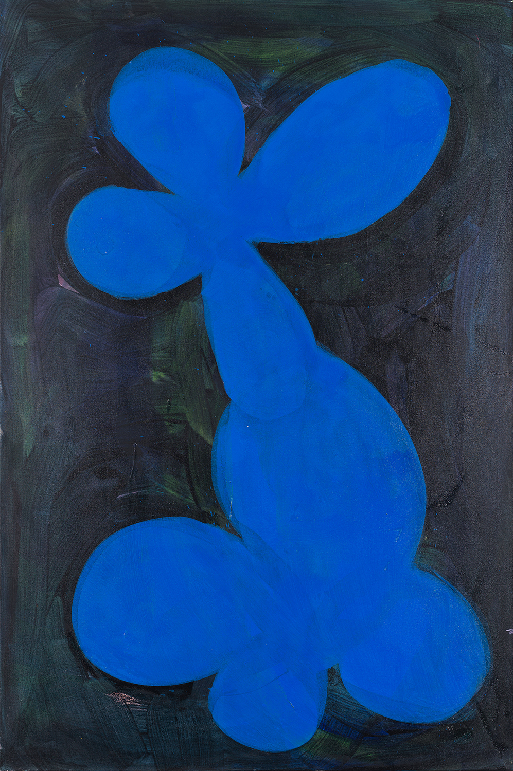 flower 5, blue, dark green, black, 2011 - 2015