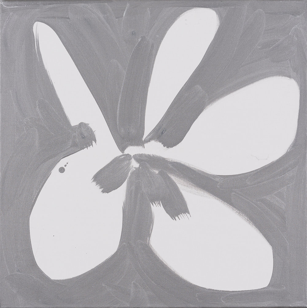 flower, white, silver, black, 2014