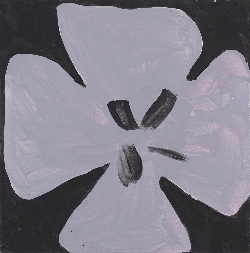 flower, silver, black, 2014