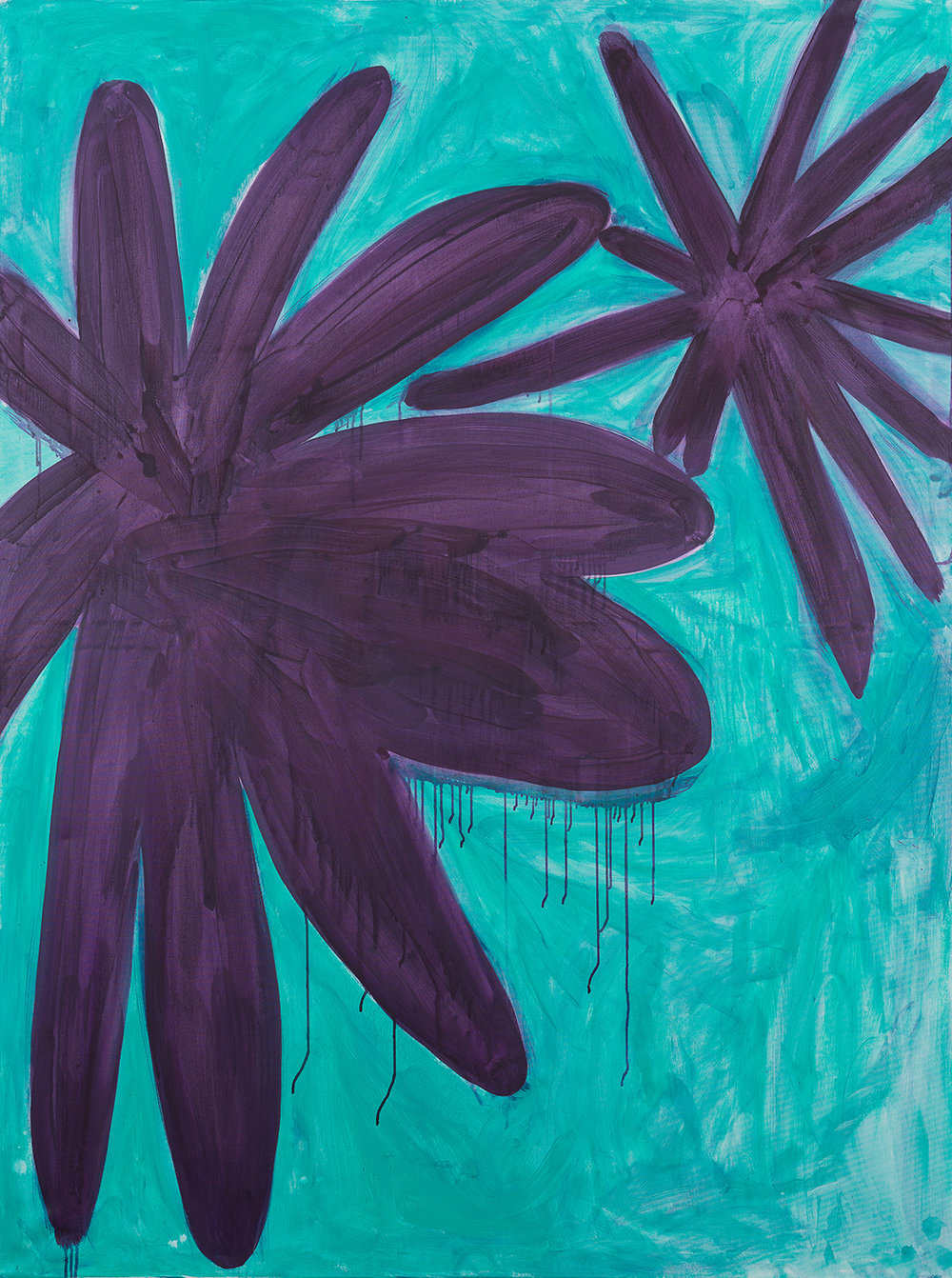 big flower, violett, turquois, 2014