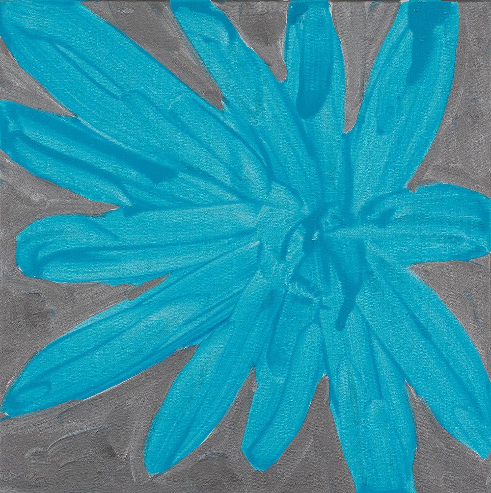 flower, light blue, silver, 2015